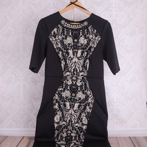 Trulli Dresses & Skirts - Trulli black, color blocking dress